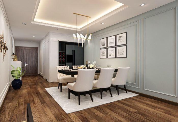 Thiết kế nội thất phong cách bếp hiện đại