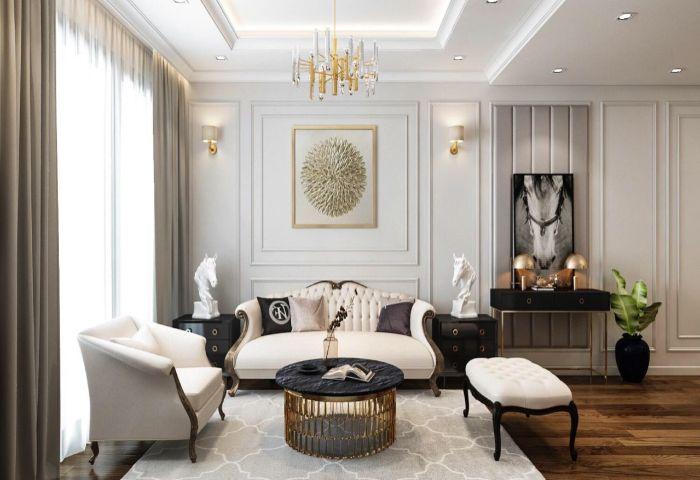 Thiết kế phòng khách mang đậm phong cách hiện đại