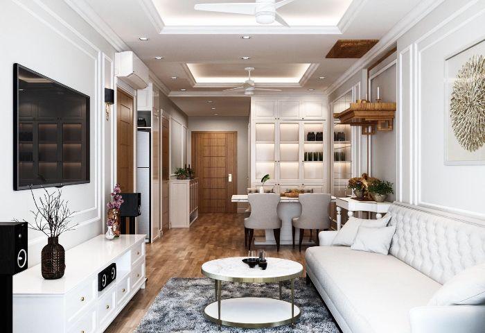 Thiết kế nội thất chung cư 73m2 Hòa Bình Green