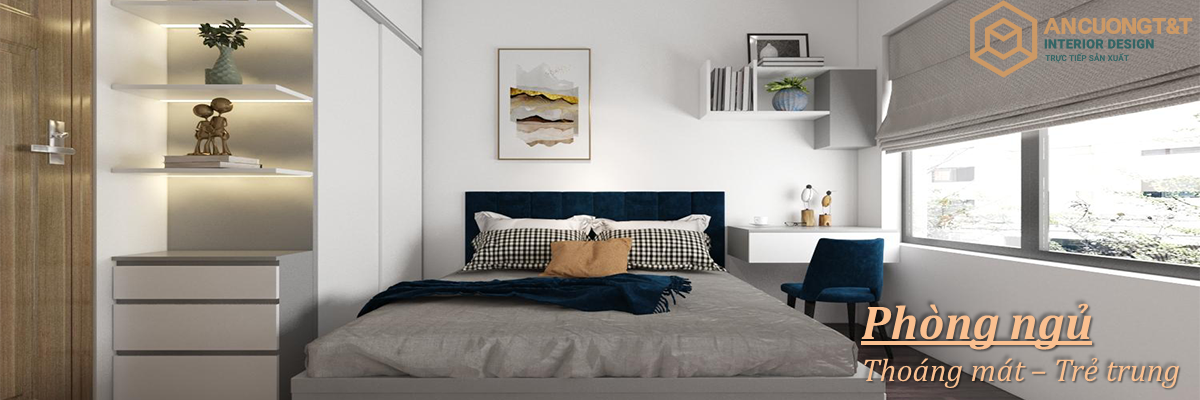 Thiết kế Phòng ngủ thoáng mát và trẻ trung