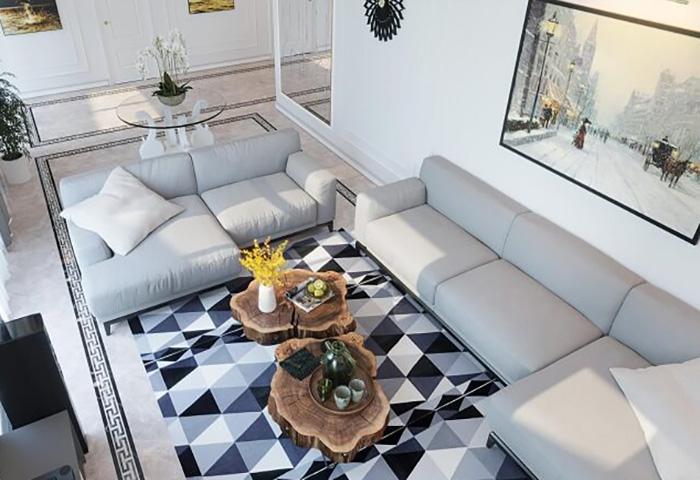 Thiết kế nội thất căn biệt thự 200m2 của anh Hồng – Hải Phòng