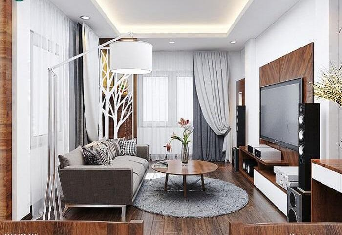 Nội thất phòng khách – bếp cho nhà phố mặt tiền 3,2m