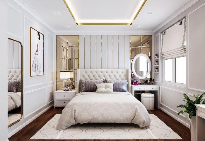 Mẫu thiết kế phòng ngủ hiện đại pha chút cổ điển