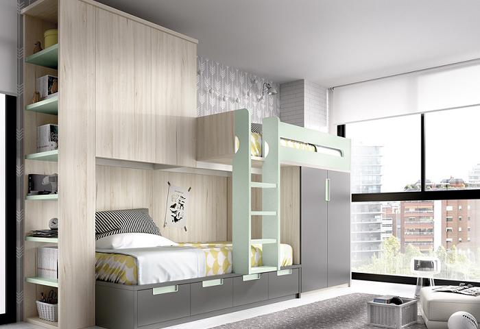 Thiết kế mẫu giường tầng thông minh cho phòng trẻ em