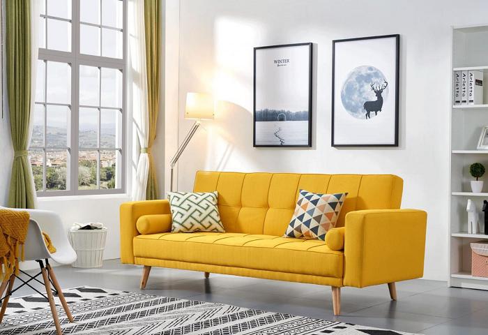 Màu vàng và những sự kết hợp trong thiết kế chung cư