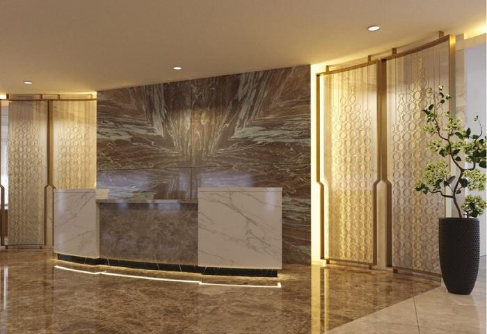 Thiết kế đẹp cho quầy lễ tân khách sạn
