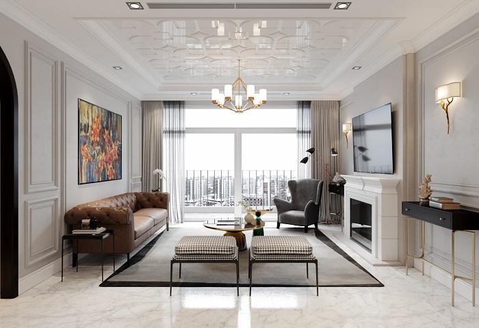 Clip 3D Mẫu phòng khách cho chung cư sang trọng