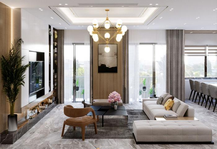 Thiết kế nội thất chung cư Vinhomes Symphony – Chị Thơm
