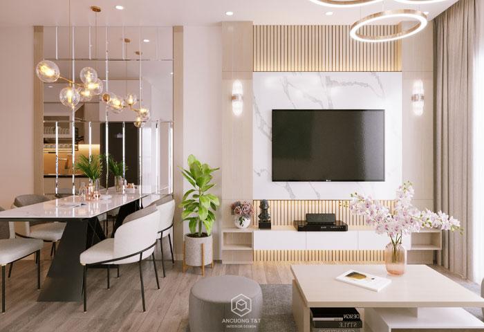 Thiết kế nội thất chung cư Vinhomes Ocean Park – Ms Nhàn