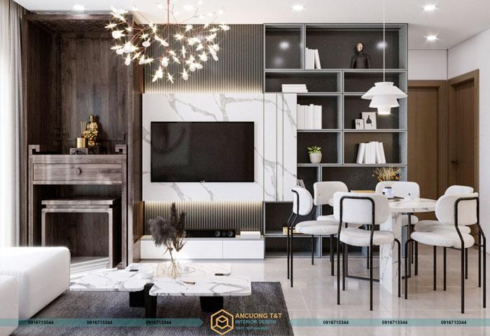 Thiết kế nội thất chung cư Vinhomes Smart City - Anh Thắng