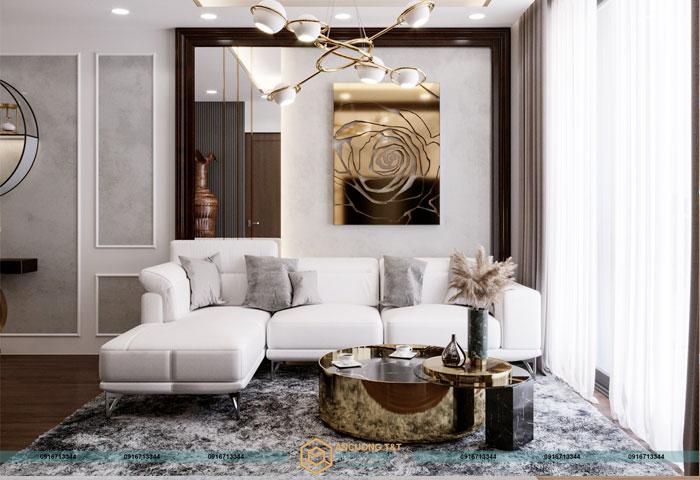 Thiết kế nội thất chung cư Hc Golden City - Ms Liên